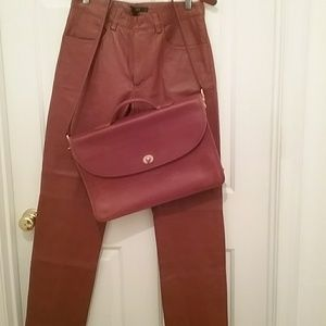DKNY leather jeans #68j-boot cut/straight Nw/oT